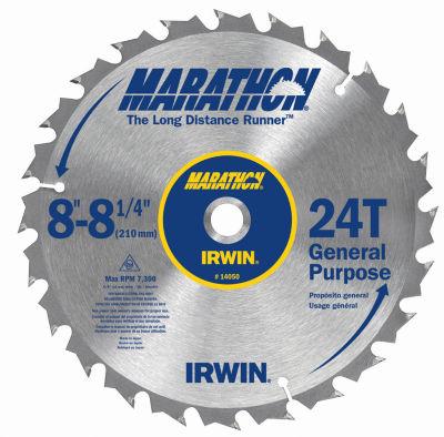 """Irwin Marathon 14050Zr 8"""" 24T Marathon Miter & Table Saw Blades"""