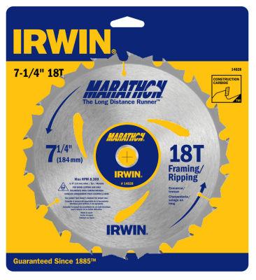"Irwin Marathon 14028 7-1/4"" Marathon® Portable Corded Circular Saw Blades"