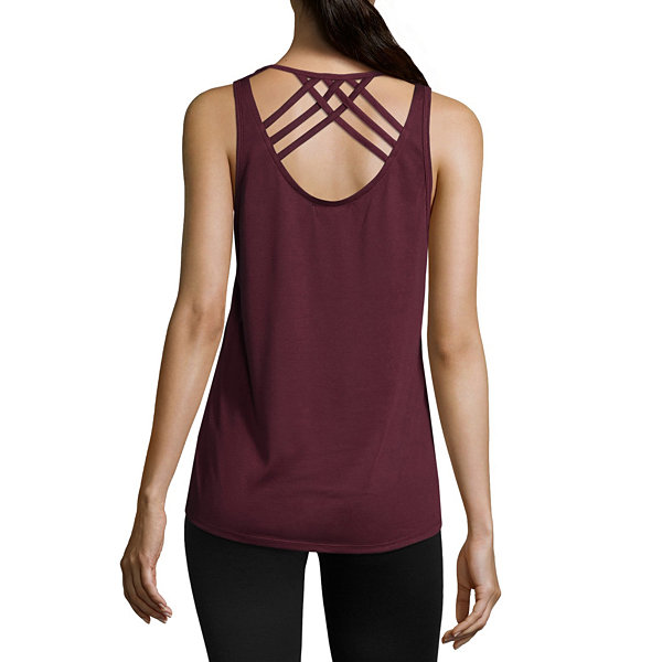 Flirtitude Strappy Back Tank Top - Juniors