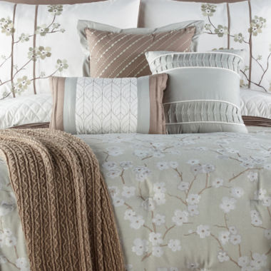 JCPenney Home Japanese Cherry Blossom 10-pc. Floral Comforter Set
