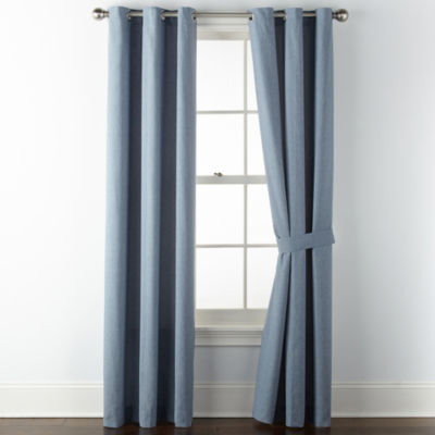 JCPenney Home Regatta Grommet-Top Curtain Panel