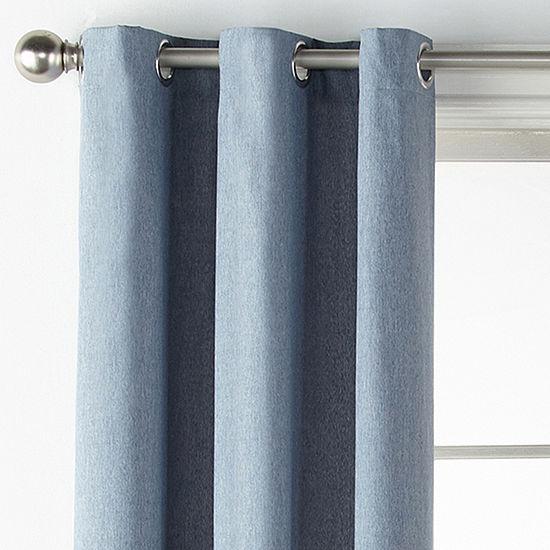 JCPenney Home Regatta Grommet-Top Single Curtain Panel