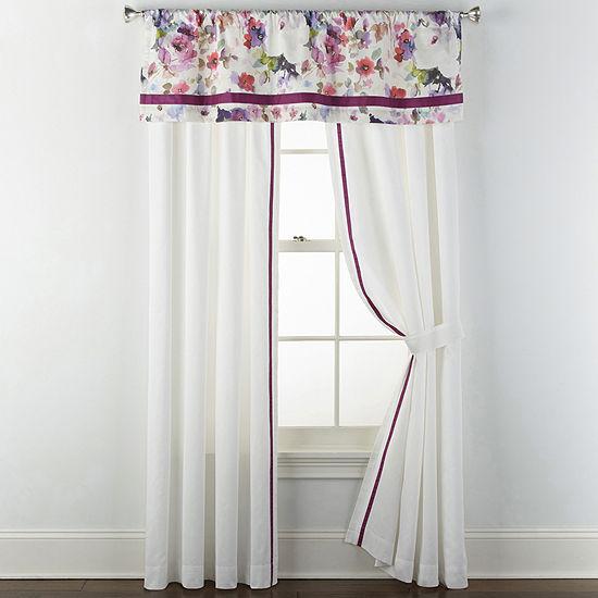 JCPenney Home Arboretum Rod-Pocket Single Curtain Panel