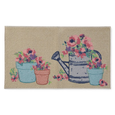 JCPenney Home Spring Flower Pots Rectangular Rugs