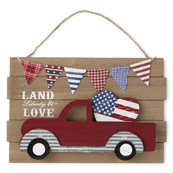 JCPenney Home Americana Car Wall Sign