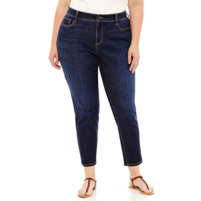 St. John's Bay® Secretly Slender Skinny Ankle Jean - Plus