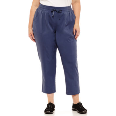 St. John's Bay Active® Top Stitch Woven Pant -  Plus