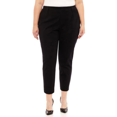 Worthington Bi Stretch Ankle Pant- Plus