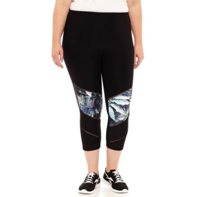 Xersion Floral Performance Capri - Plus
