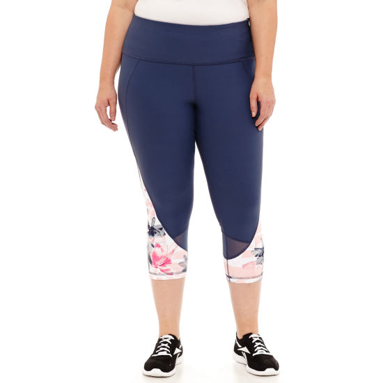 Xersion Performance Floral Colorblock Capri - Plus