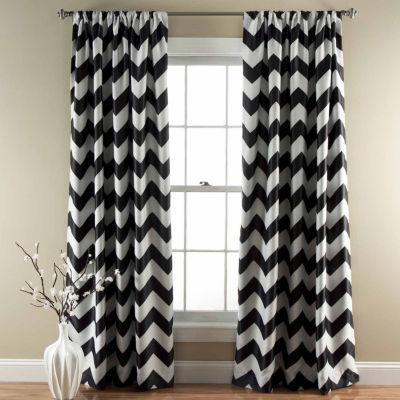Lush Decor Chevron 2-Pack Room Darkening Curtain Panel