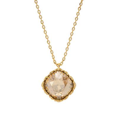City Rocks Swarvorski 14K Brass 20 Inch Chain Necklace