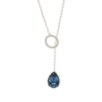 City Rocks Swarvorski Brass 20 Inch Chain Necklace