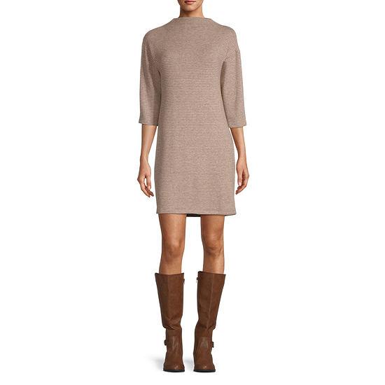Chris Mclaughlin 3/4 Sleeve Sweater Dress