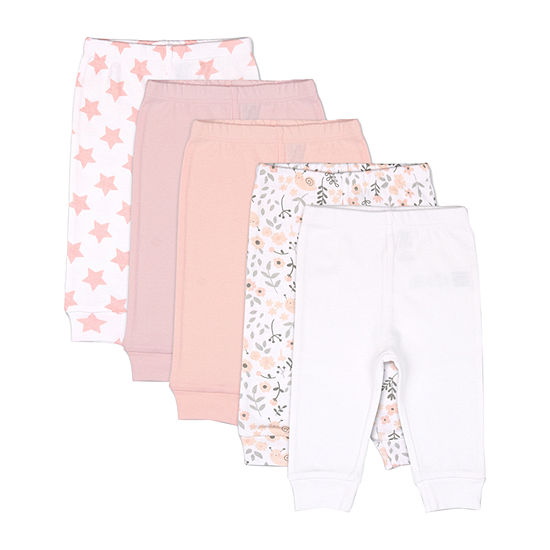 The Peanutshell Baby Girls Cuffed Jogger Pant