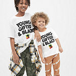 Kids Unisex Crew Neck Short Sleeve Graphic T-Shirt