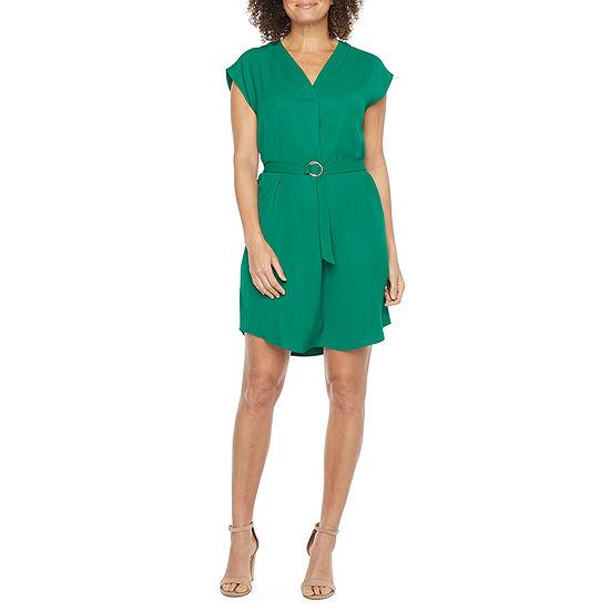 Worthington Short Sleeve Floral Shift Dress