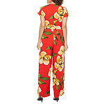 Dr Collection Short Sleeve Floral Jumpsuit
