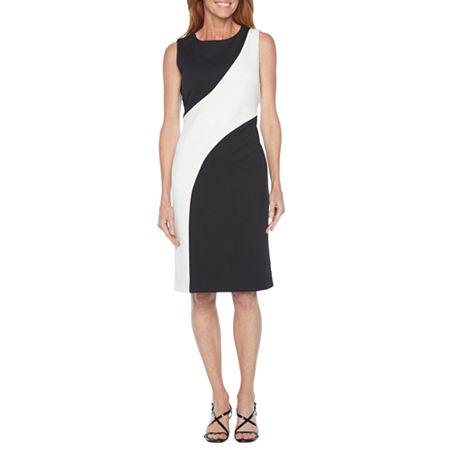 60s Dresses   1960s Dresses Mod, Mini, Hippie Ronni Nicole Sleeveless Sheath Dress 16  Black $37.49 AT vintagedancer.com