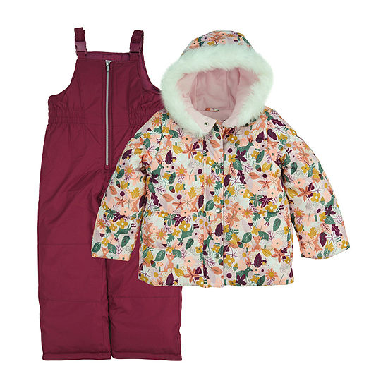 Carter's Baby Girls Heavyweight Floral Snow Suit