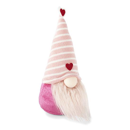 Pink Valentine'S Gnome Figurine