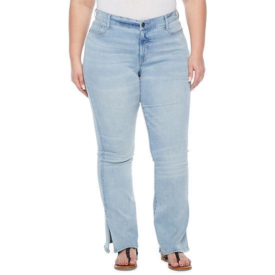 a.n.a - Plus Womens High Rise Regular Fit Stretch Flare Jean