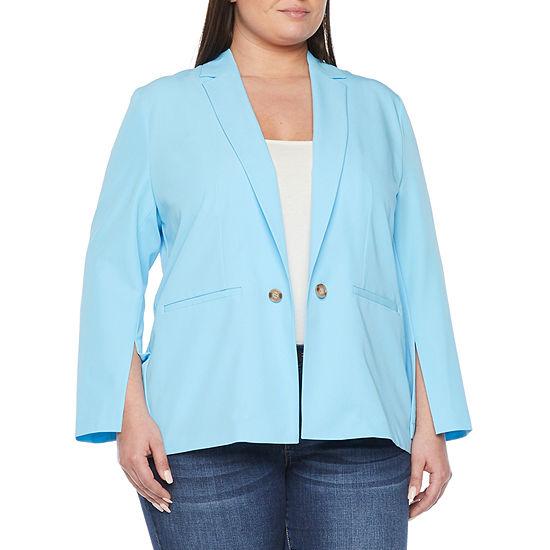 Worthington Womens Slit Sleeve Blazer - Plus