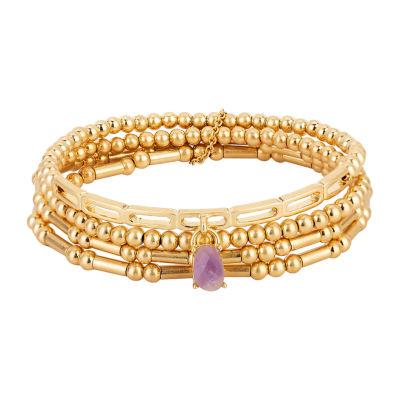 a.n.a Inspirational Jewelry Semi Precious 4-pc. Stretch Bracelet
