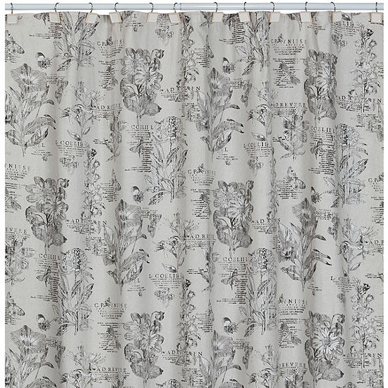 Creative BathTM Sketchbook Botanical Toile Shower Curtain