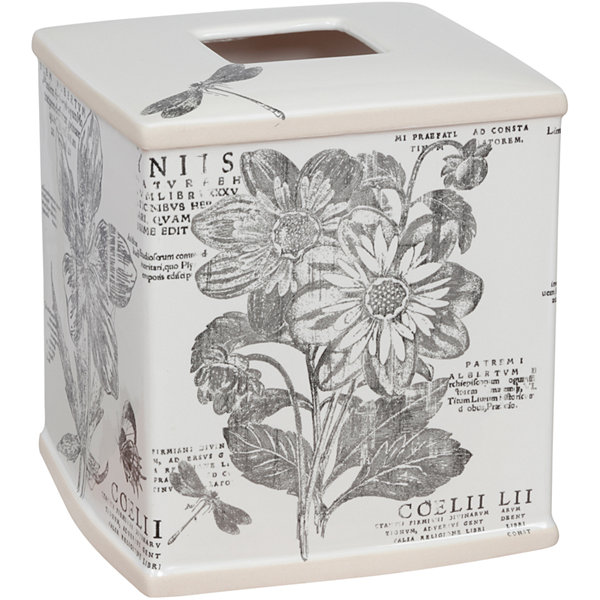 Creative Bath™ Sketchbook Botanical Toile Tissue Cover
