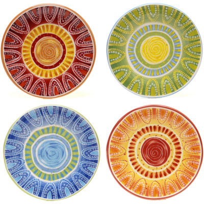 Certified International Tapas Set of 4 Dessert Plates