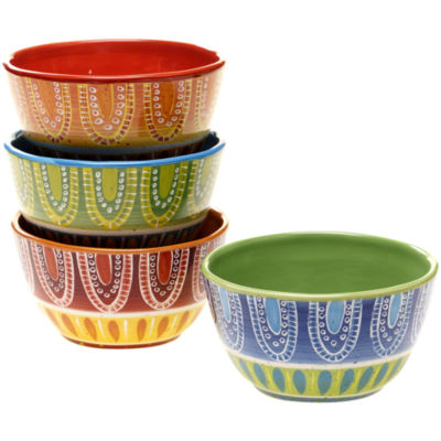 Certified International Tapas Set of 4 Ice Cream Bowls