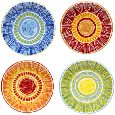 Certified International Tapas Set of 4 Appetizer Plates