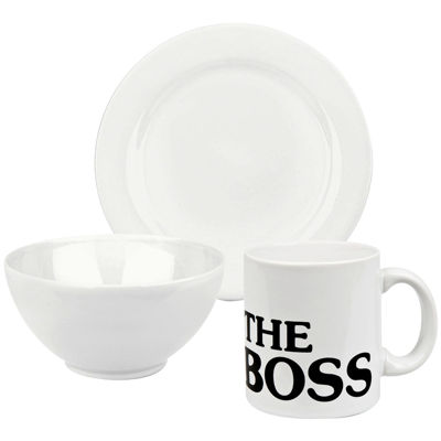 Boss 3-pc. Dinnerware Set