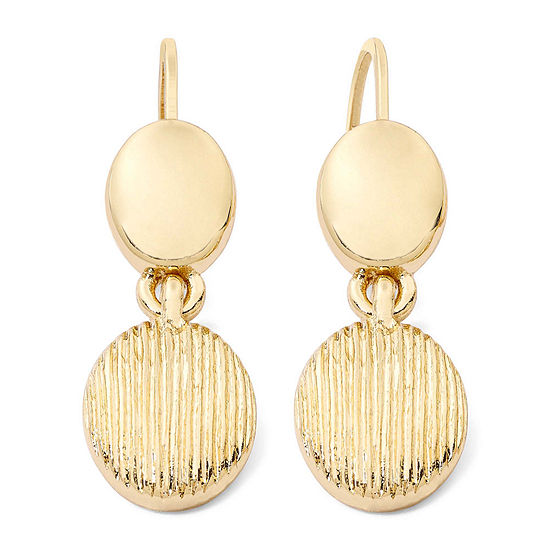 Monet® Gold-Tone Textured Drop Earrings