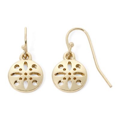 Liz Claiborne® Gold-Tone Round Drop Earrings
