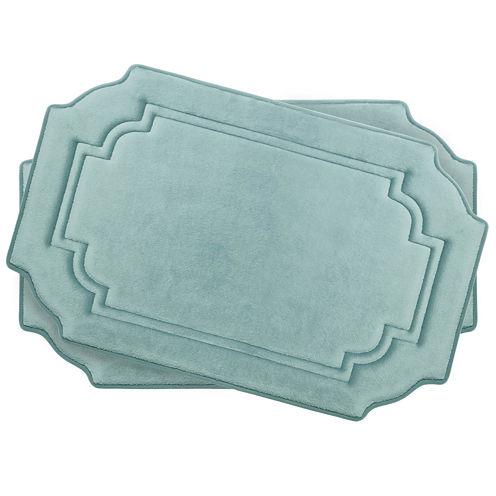 "Bounce Comfort Calypso Memory Foam 17x24"" 2-pc. Bath Mat Set"