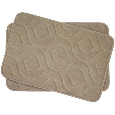 "Bounce Comfort Naoli Memory Foam 17x24"" 2-pc. Bath Mat Set"