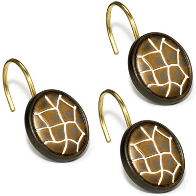 Safari Stripes Shower Curtain Hooks