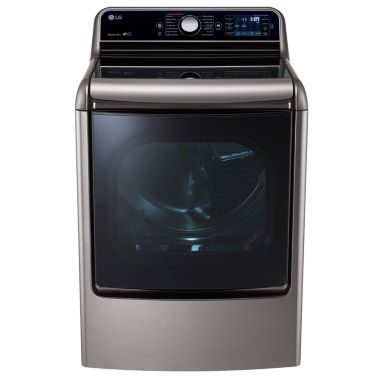 LG 9.0 cu. ft. Mega Large Capacity Turbo Steam™ Dryer with Easy Load™ Door