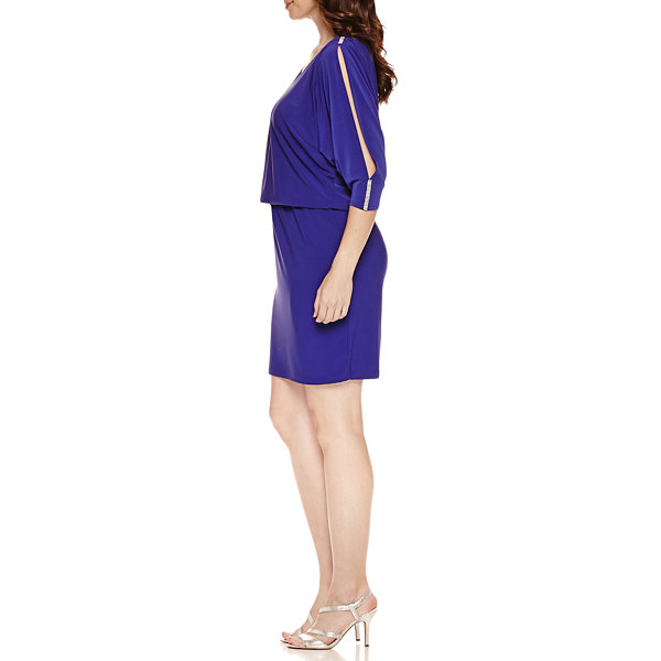 Msk 3/4 Sleeve Blouson Dress