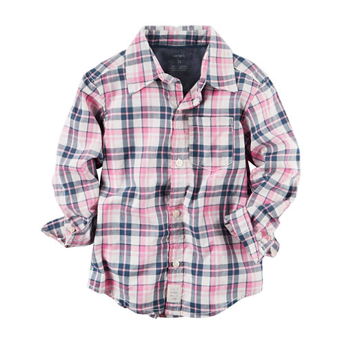 Carter's Long Sleeve Flannel Shirt-Baby Boys