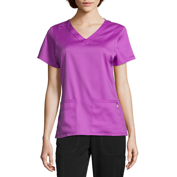 Wonder Wink Womens V Neck Scrub Top