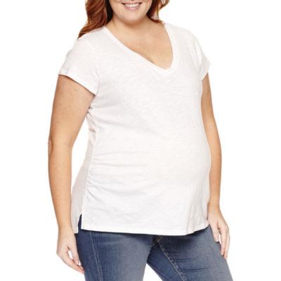 A.N.A Short Sleeve V Neck T-Shirt - Plus Maternity