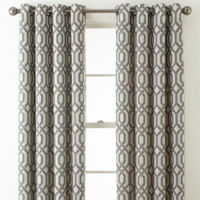 Home Expressions Pasadena Print Blackout Grommet Top Curtain Panel Jcpenney