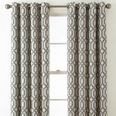 JCPenney Home Pasadena Print Blackout Grommet-Top Curtain Panel