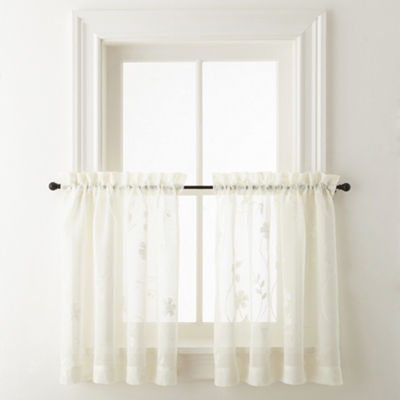 JCPenney Home Malta Rod-Pocket Window Tiers