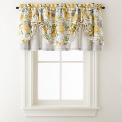 Home Expressions Lemon Zest Rod-Pocket Kitchen Valance