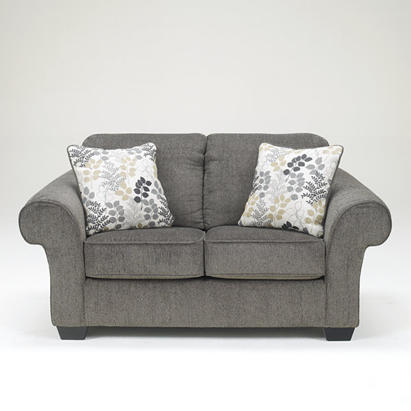 Signature Design by Ashley® Makonnen Roll Arm Upholstered Loveseat