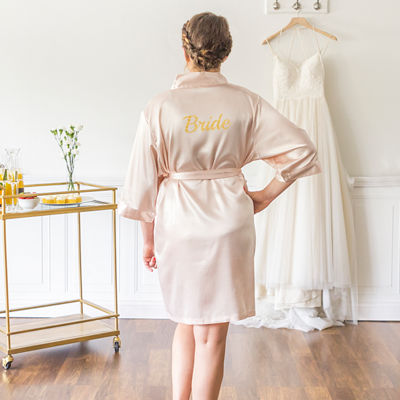 Cathy's Concepts Bride Satin Robe